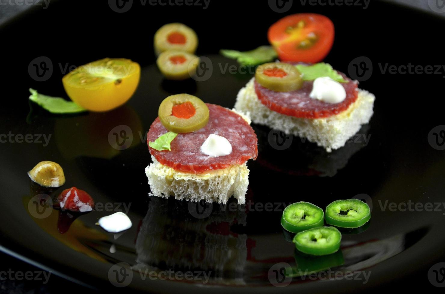 small party sandwiches photo