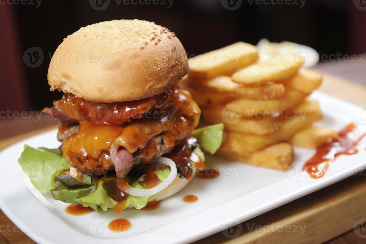hamburguesa grande foto