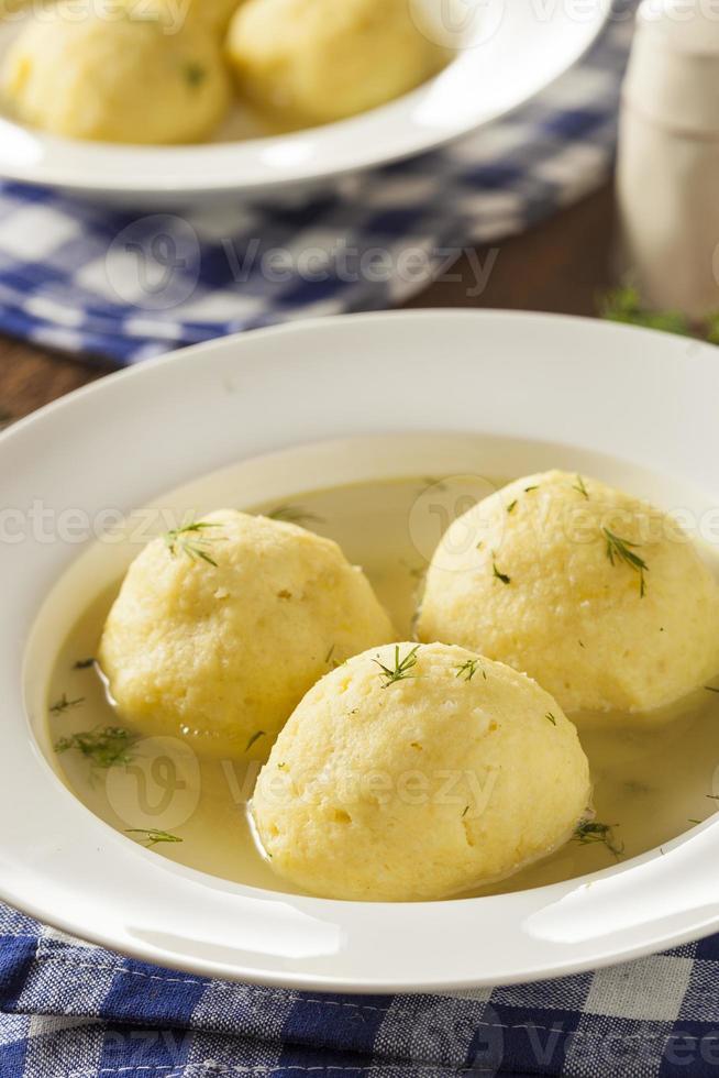 Hot Homemade Matzo Ball Soup photo