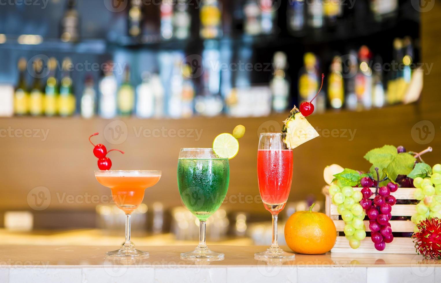 Fruit cocktails photo