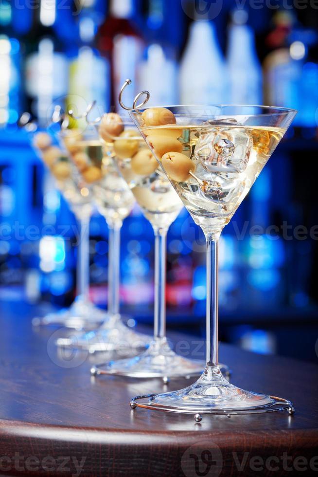 cócteles de martini foto
