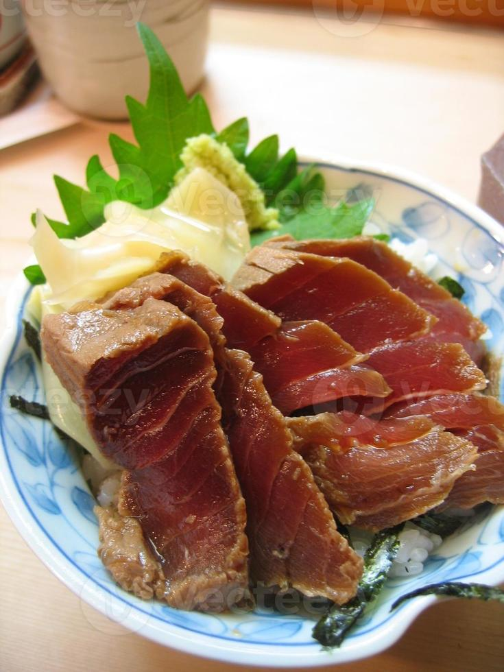 seared tuna sushi photo