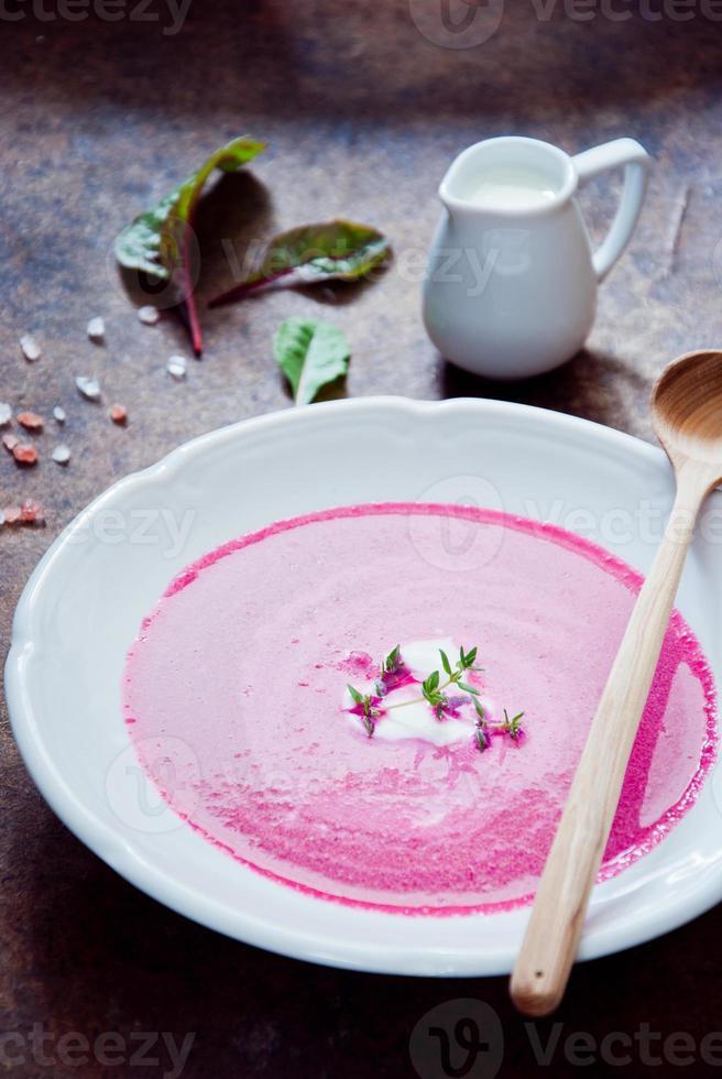 Creamy Beetroot soup photo