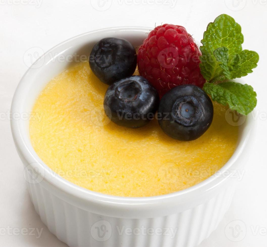 crema pastelera de cerca foto