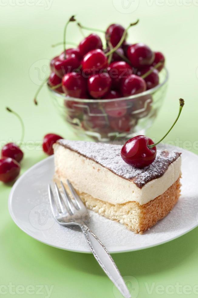 pastel de soufflé de leche (leche de pájaro) foto