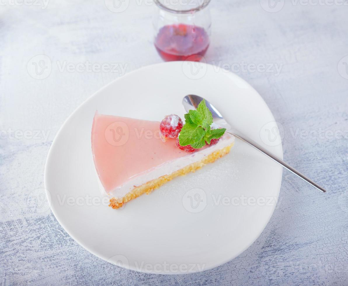 Yogurt cheesecake photo