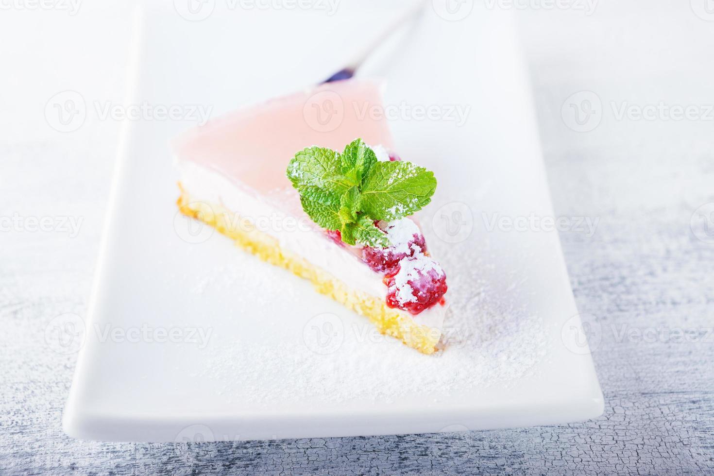 Yogurt cheesecake photo