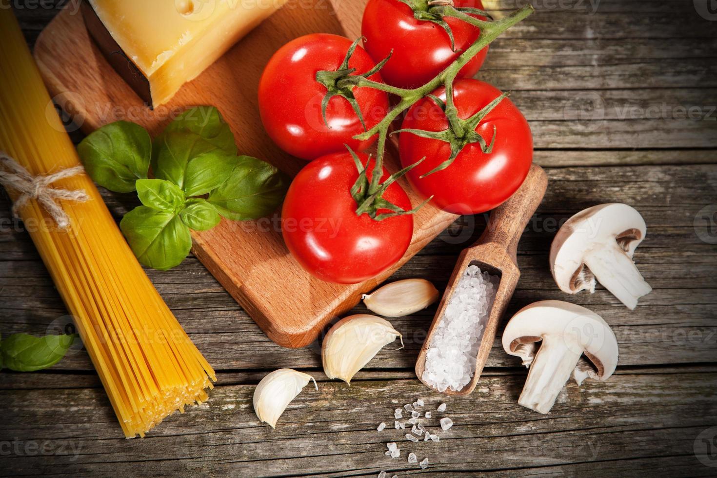 ingredientes de espagueti foto