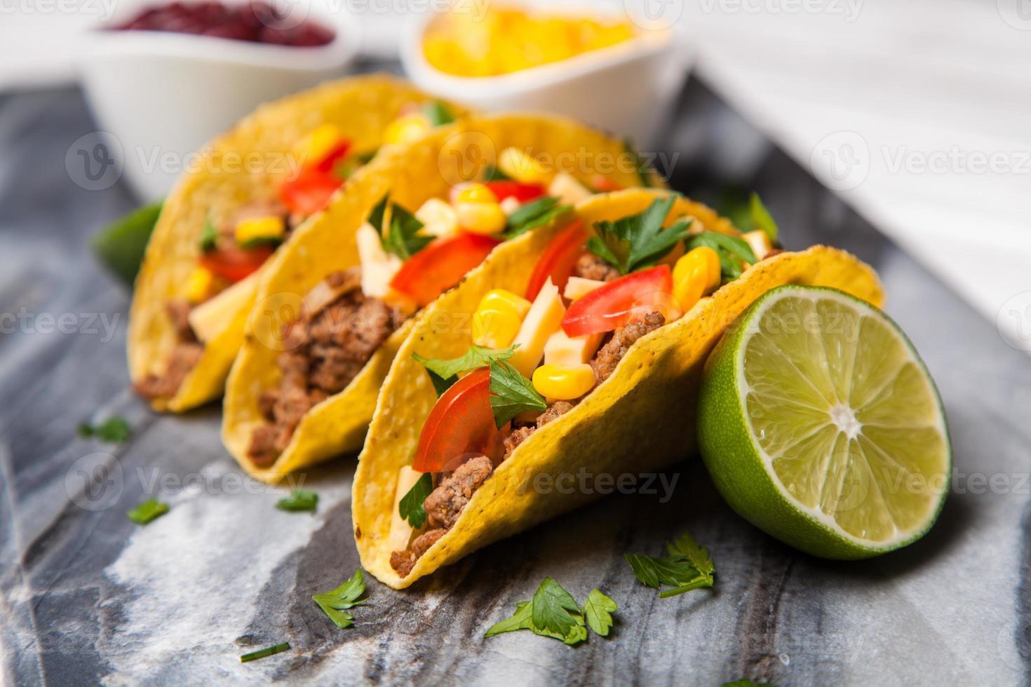 Delicious tacos photo