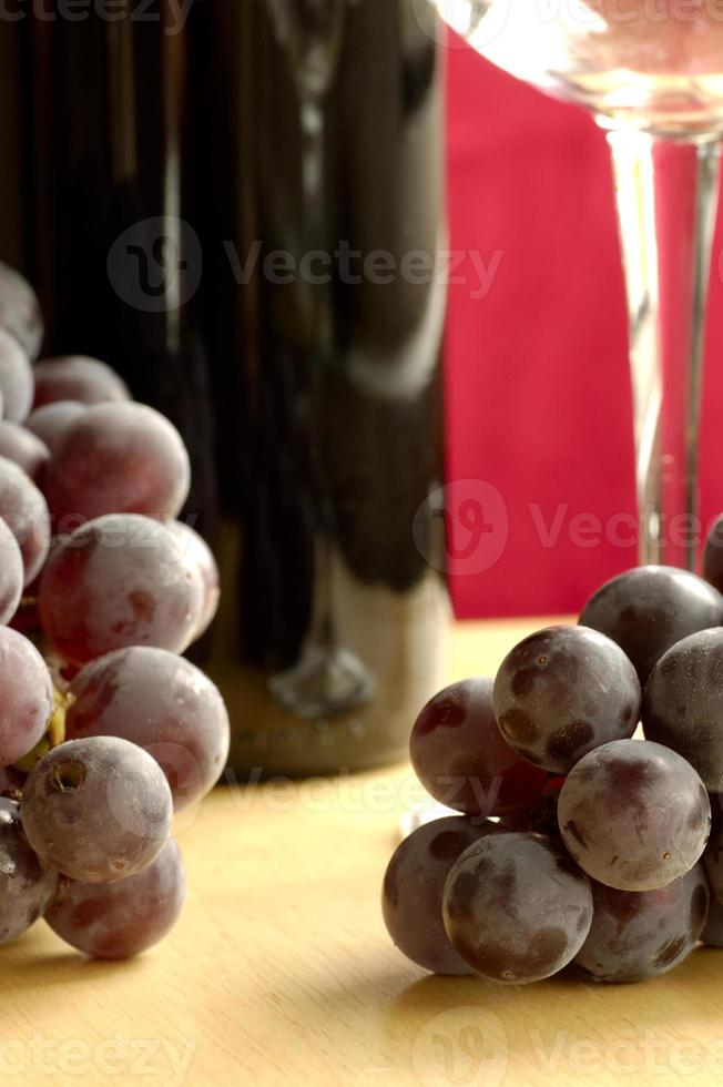 uvas y vino foto