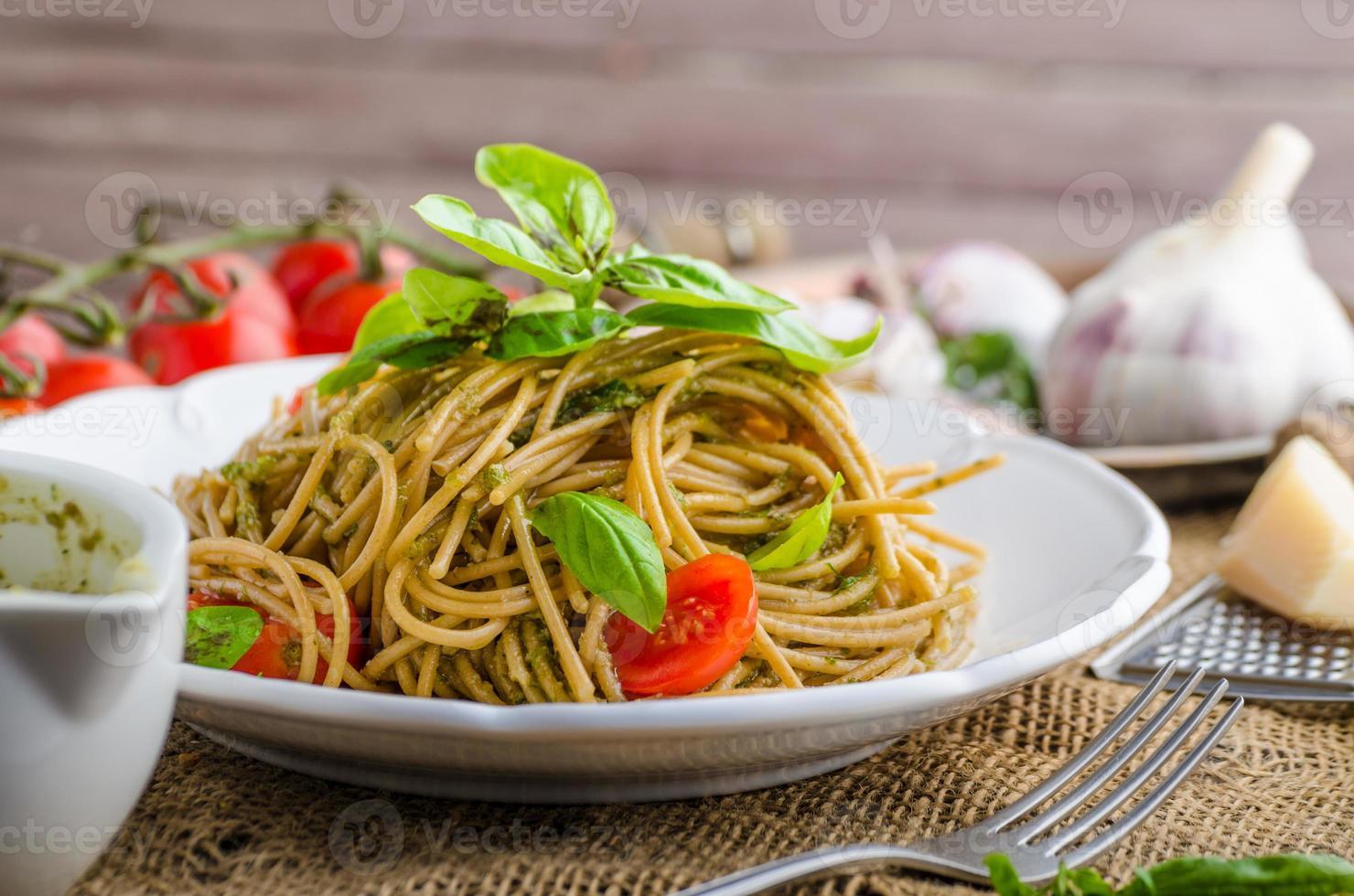 Pasta with Milan pesto photo