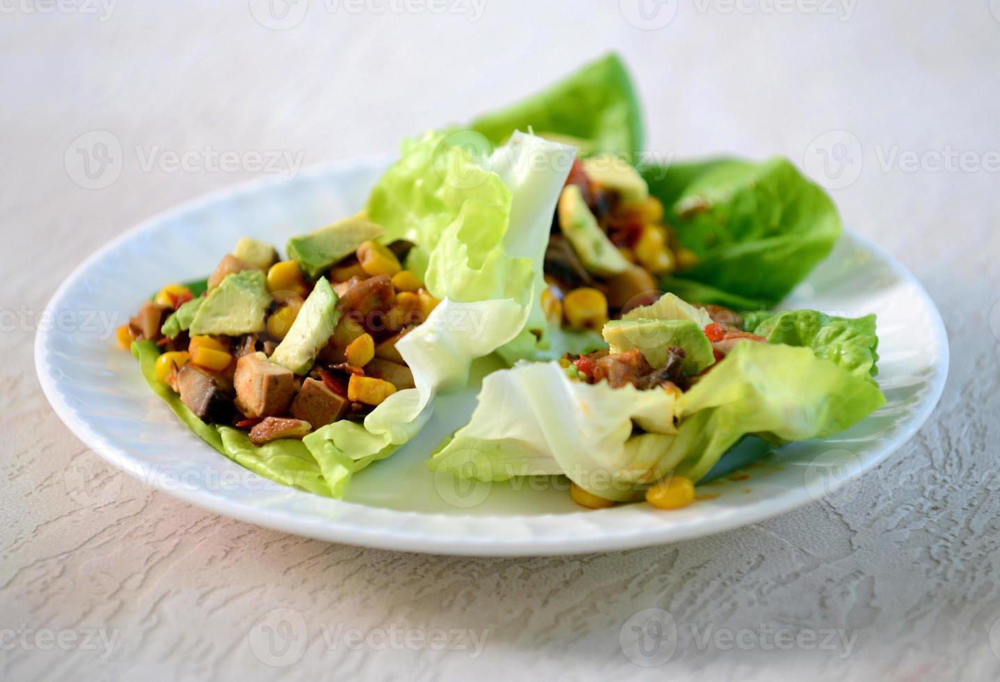 vegetarian lettuce wraps photo