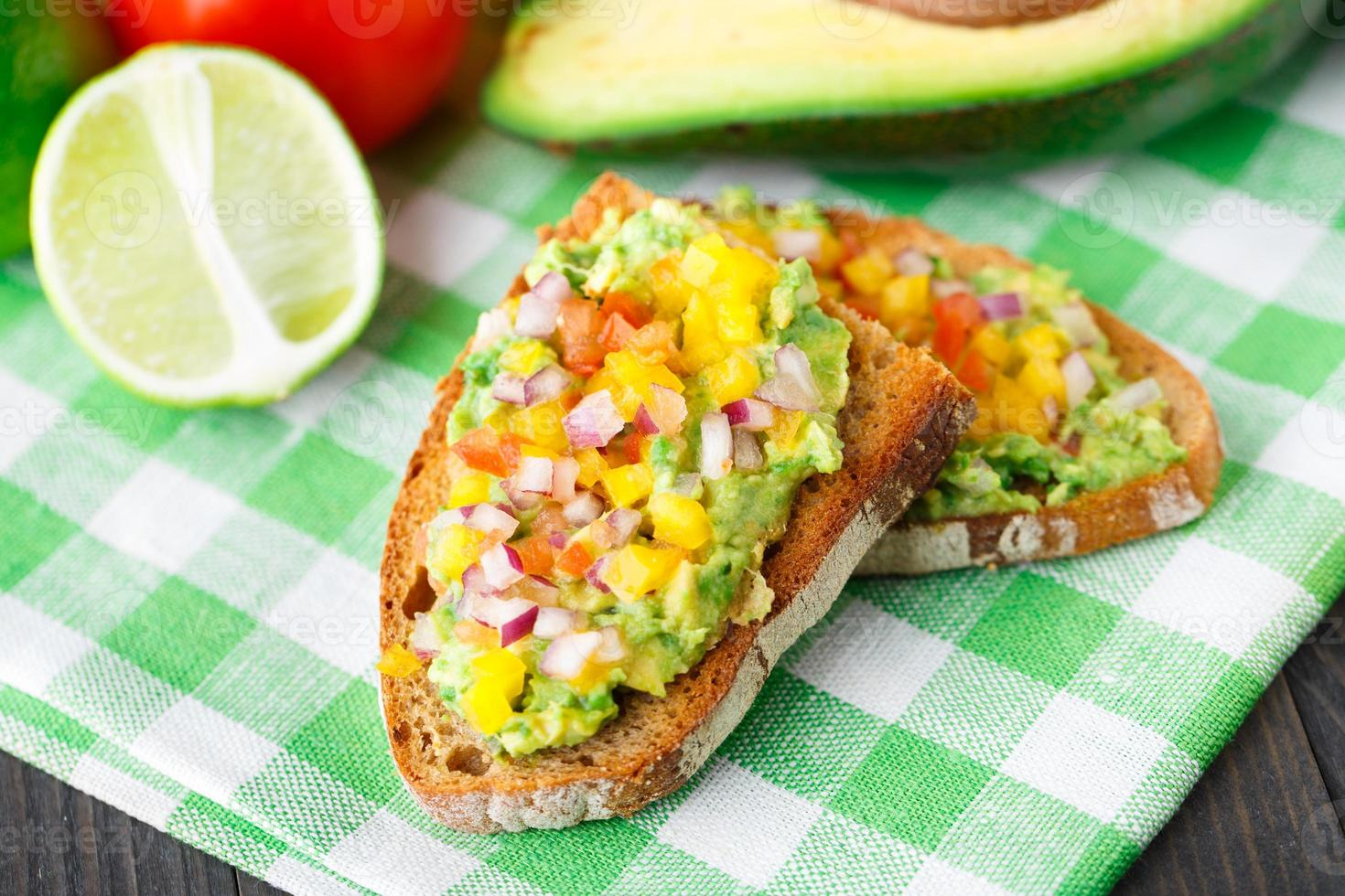 Sandwich with avocado photo