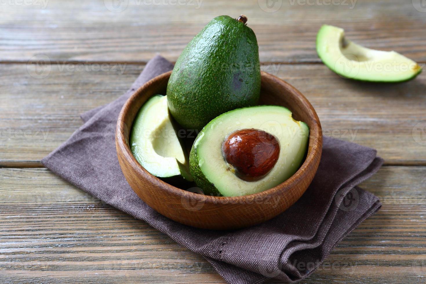 Avocado whole and halves photo