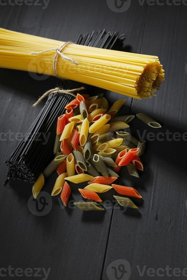Various Italian pasta photo