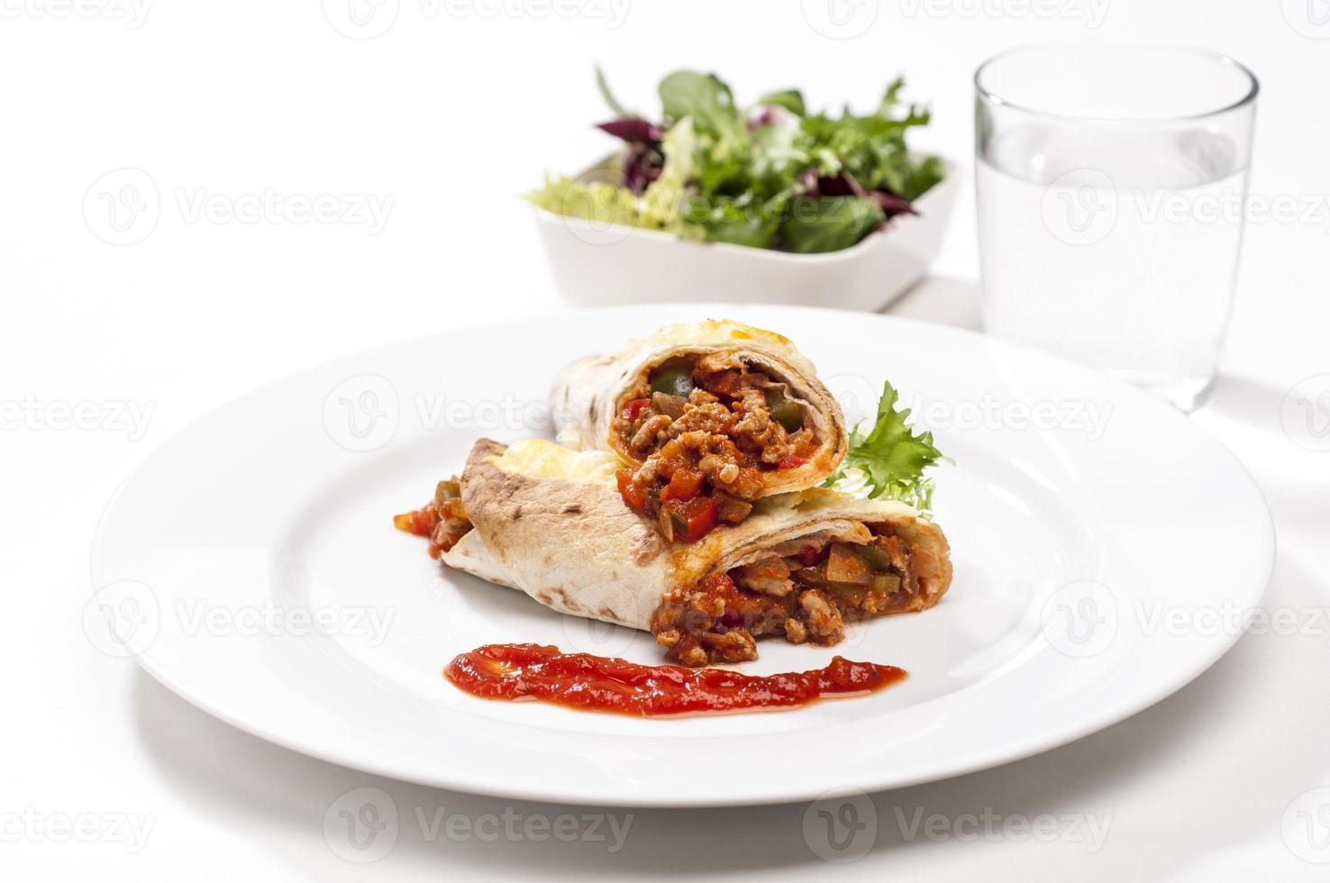 Schweinefleisch Tortilla Wraps foto