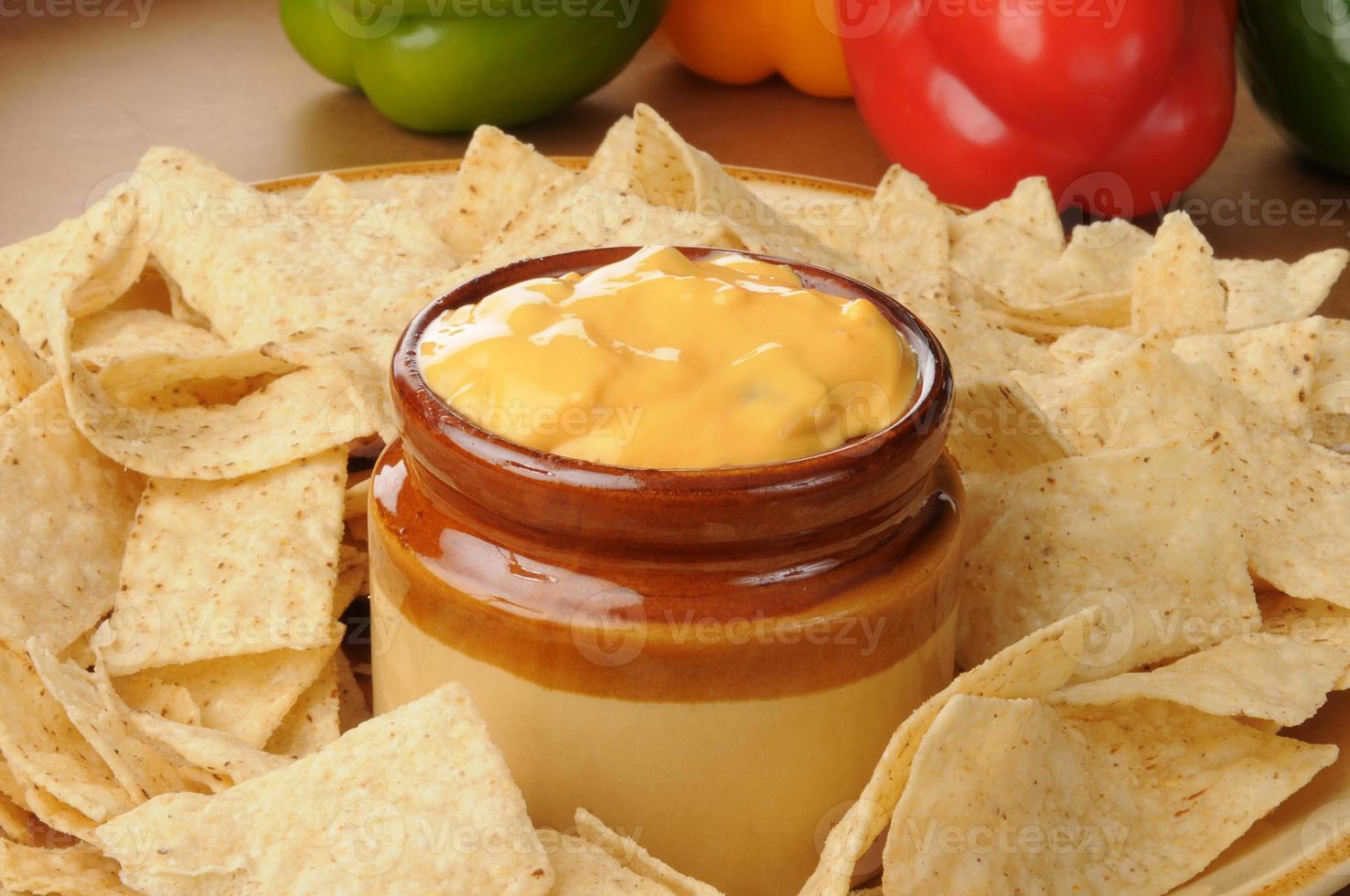 Salsa con queso photo