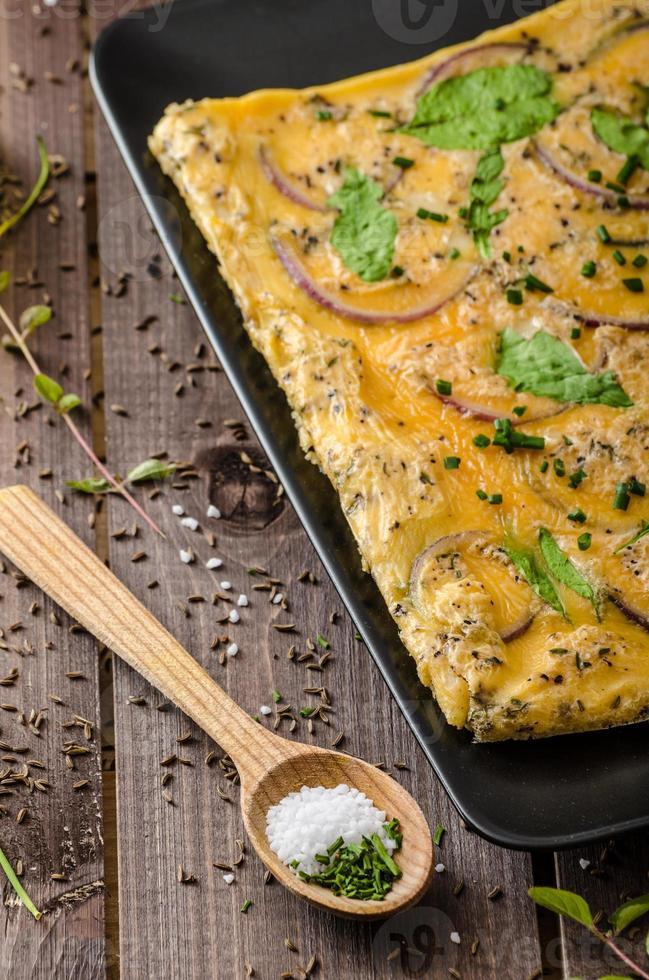 ofengebackenes Omelett foto