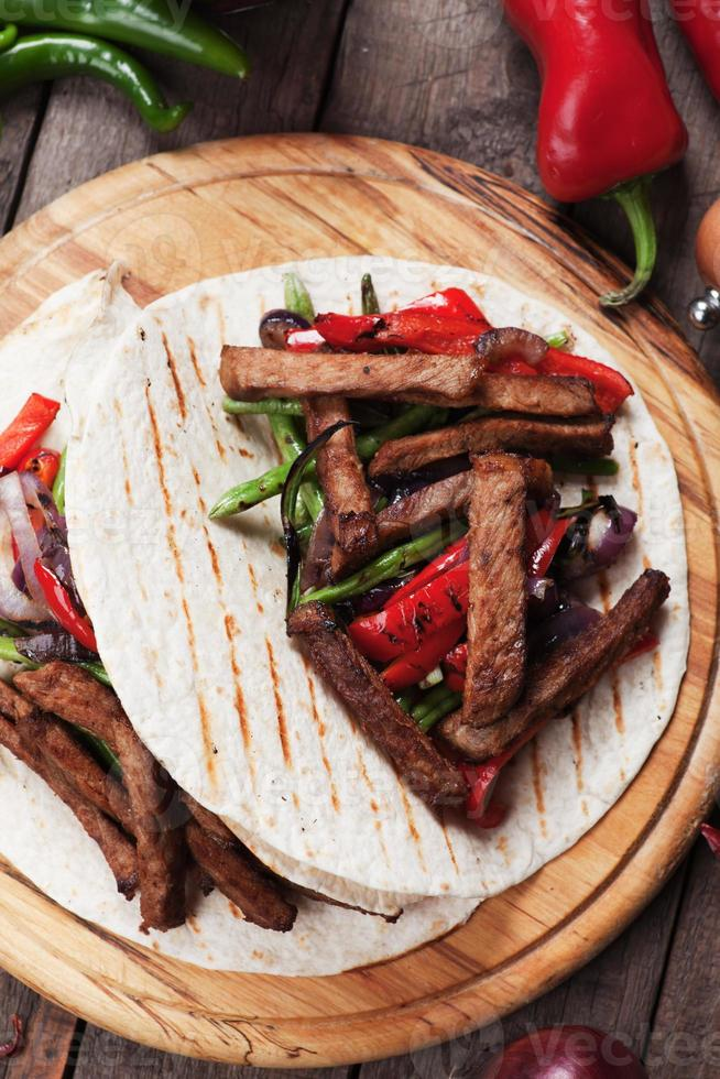 Fajitas with grilled vegetable photo