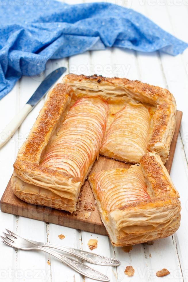 apple pie puff pastry photo