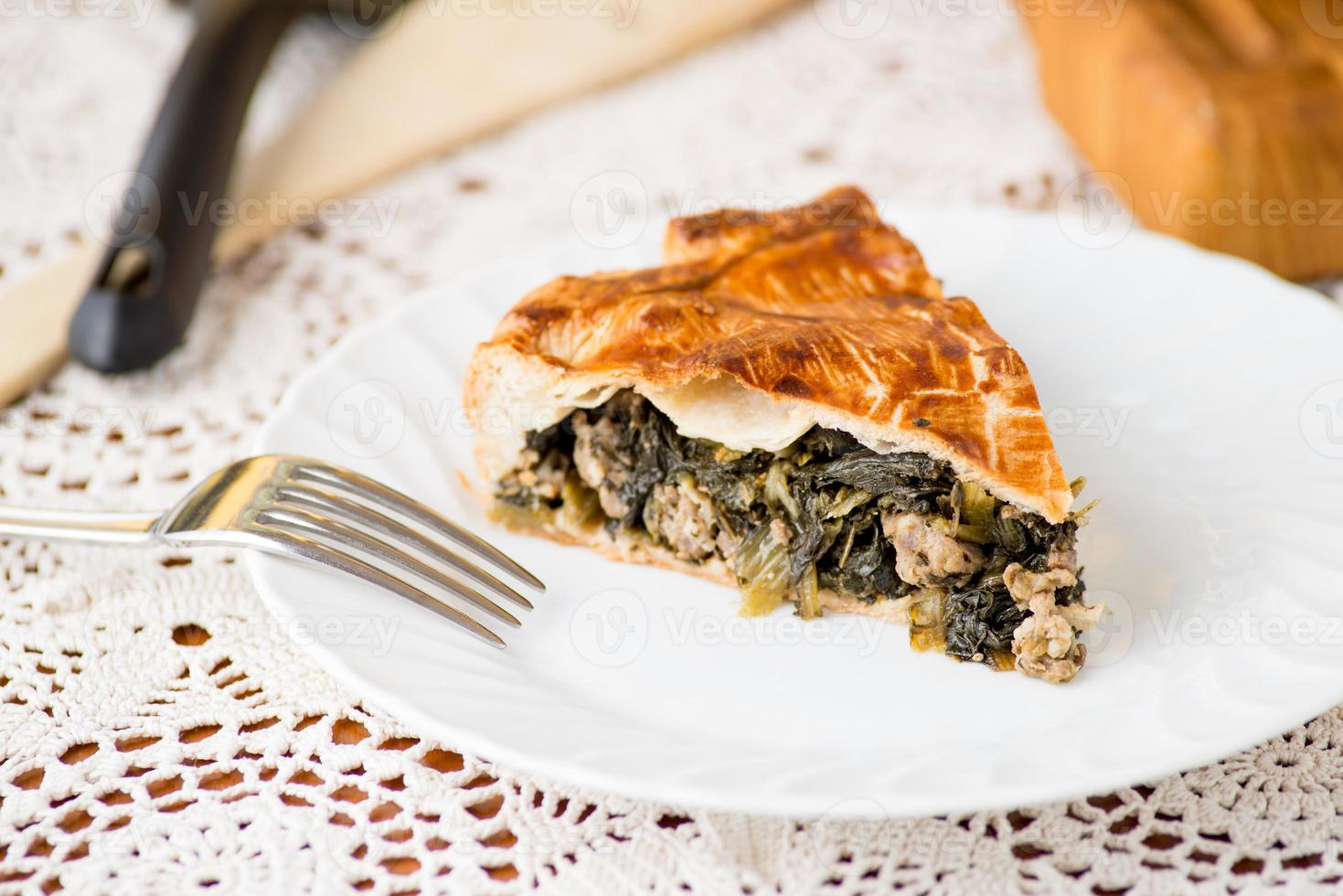 Pie with vegetables photo