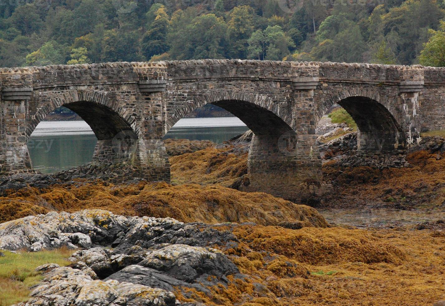 Arches across to Eilean Donan Castle in Scotland photo