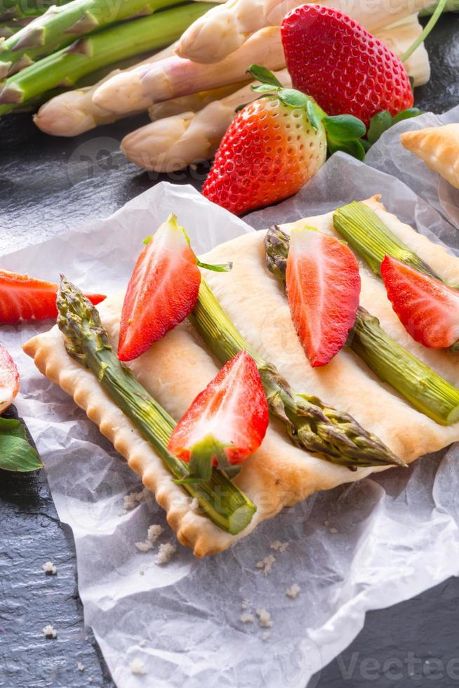 Asparagus tarte photo