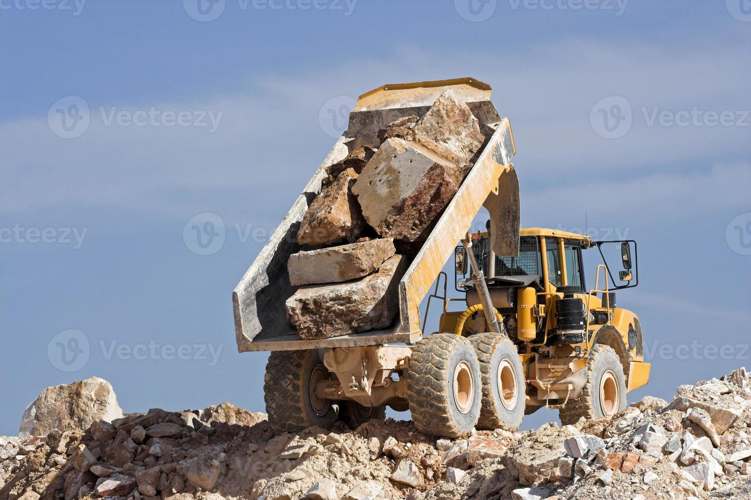 Dump truck at work photo