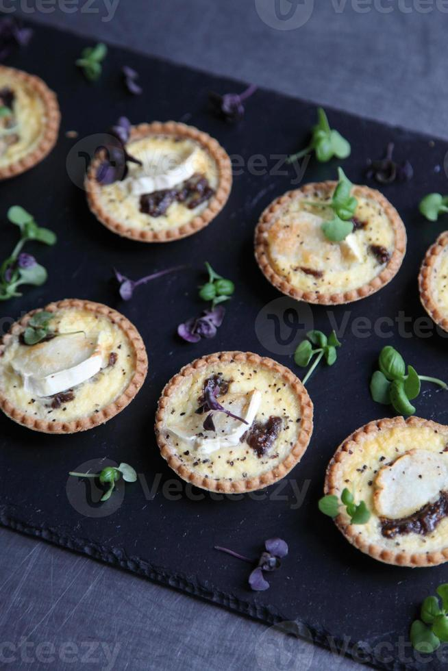 Selection of quiches photo