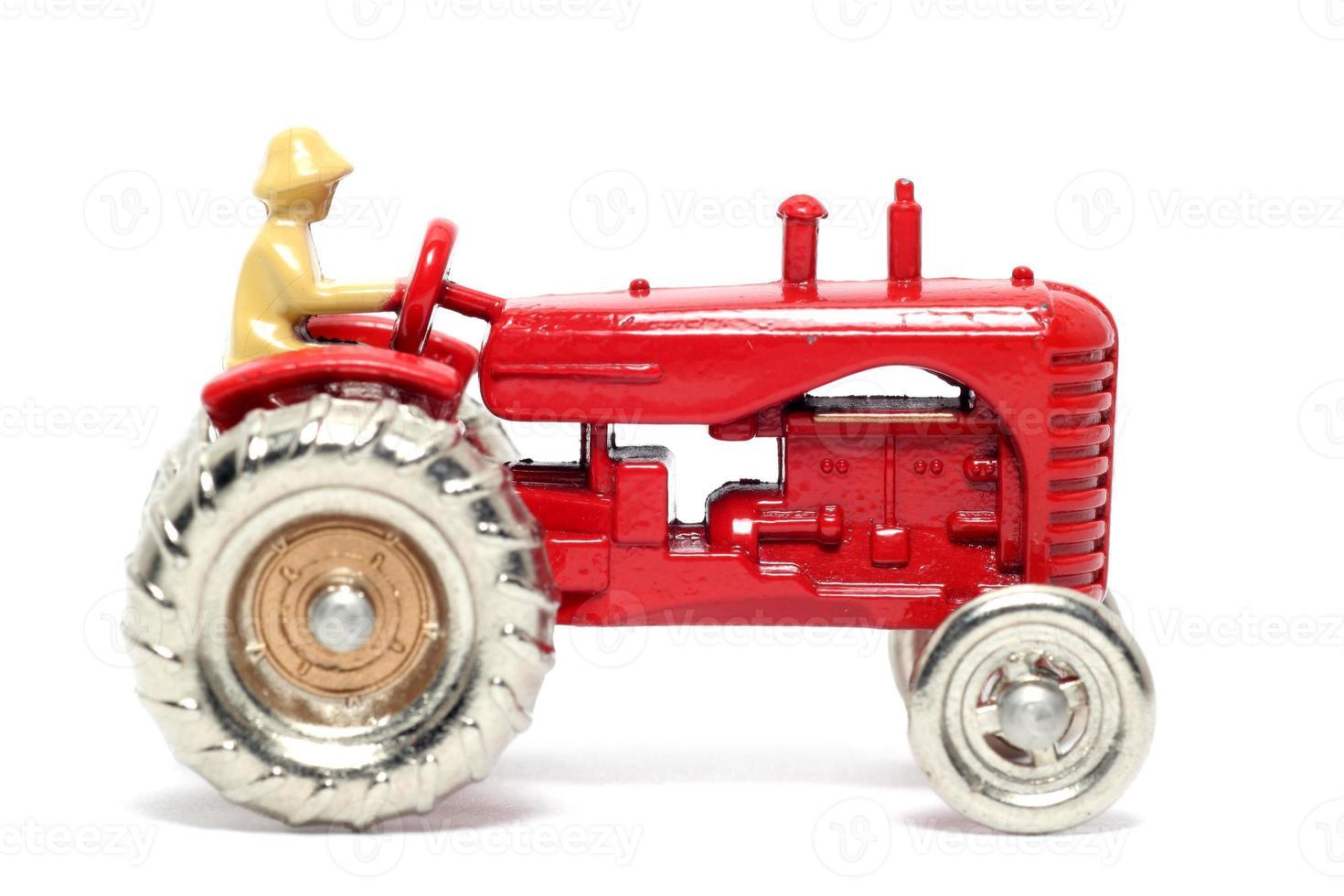 viejo coche de juguete tractor massey harris foto