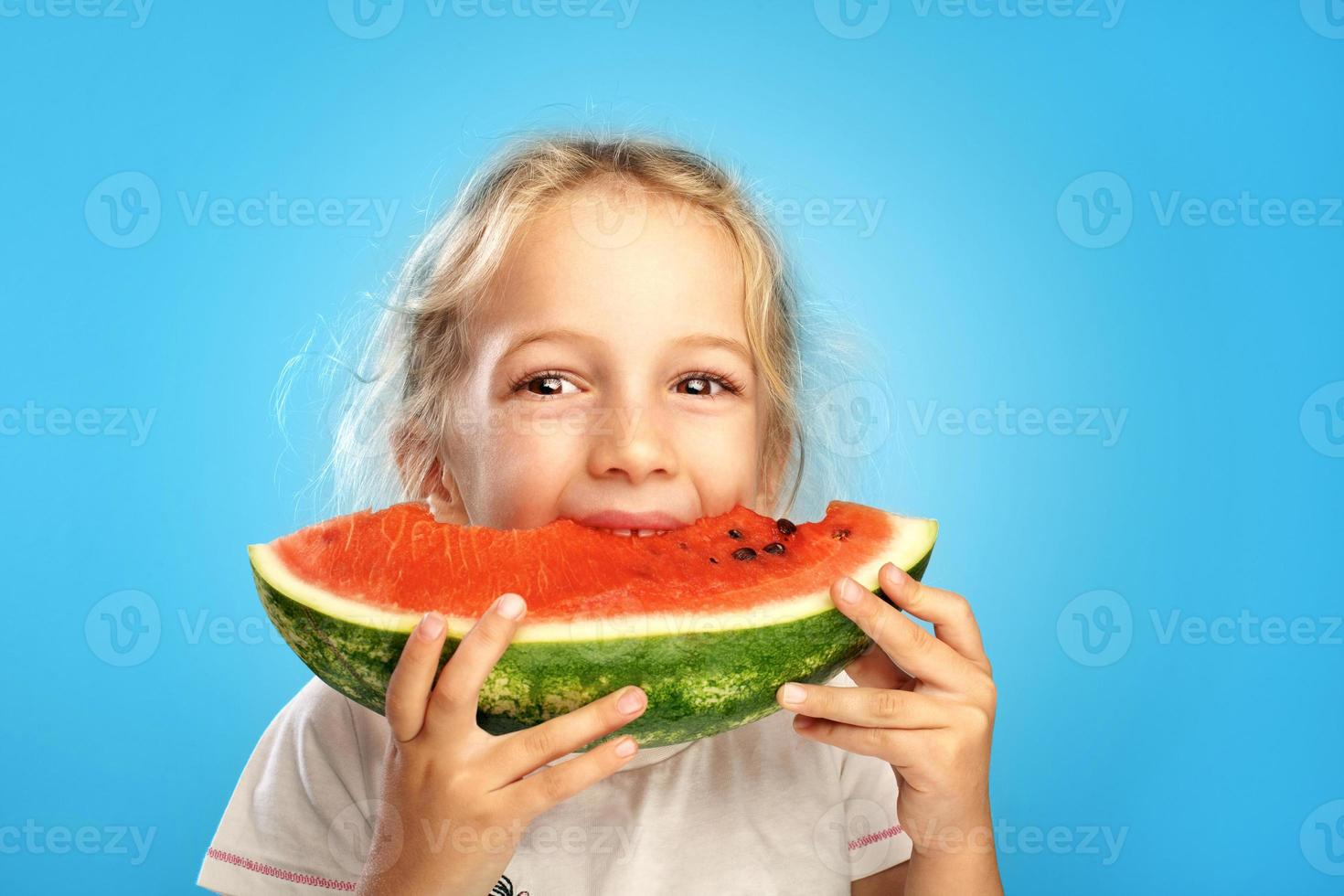 Girl with watermelon photo