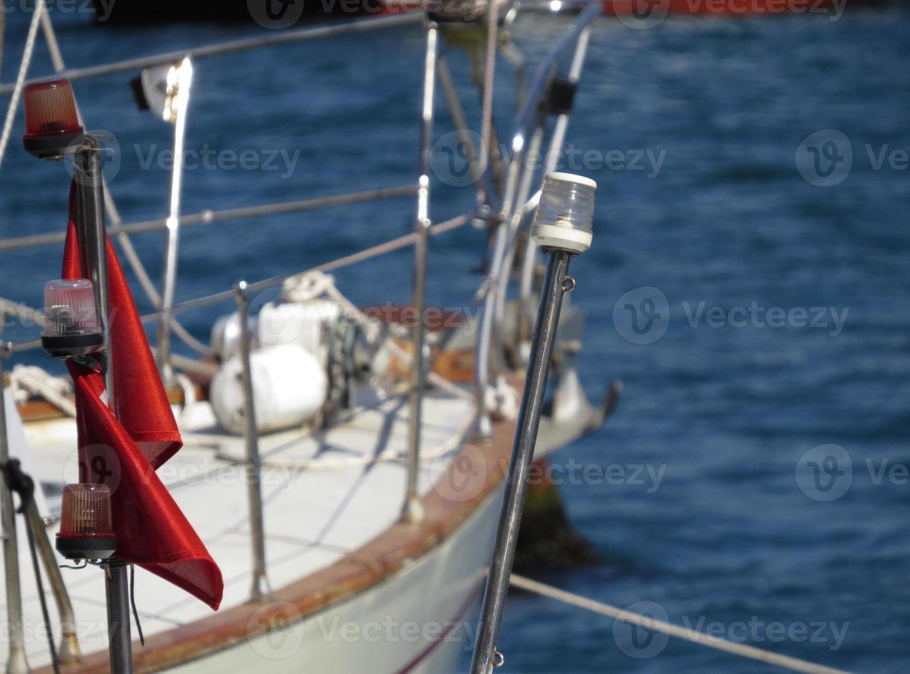 bandera roja foto