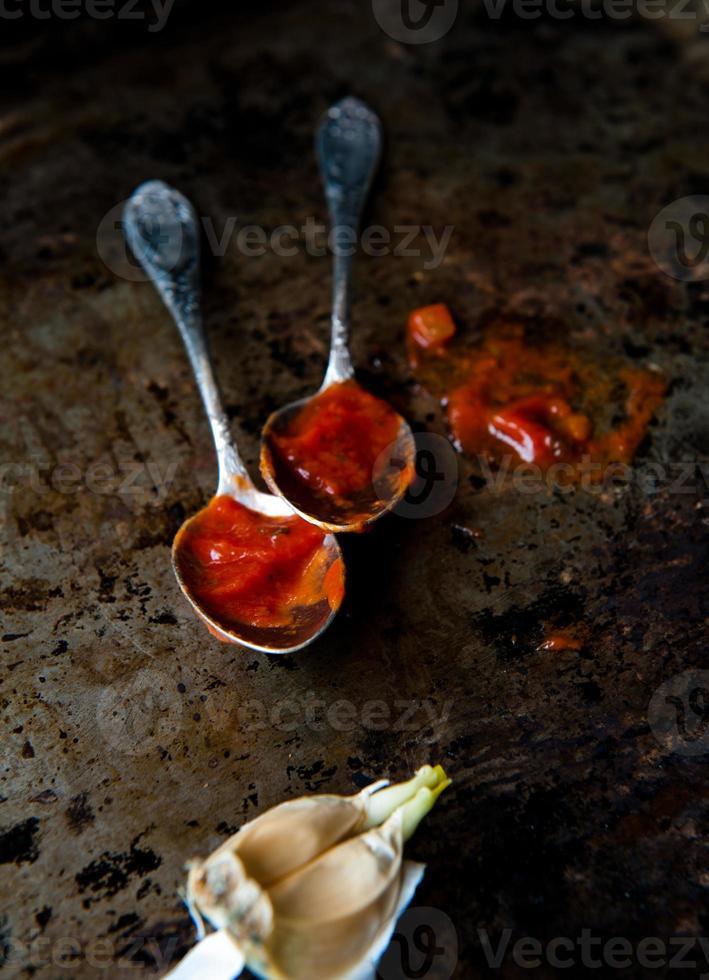 salsa de tomate foto