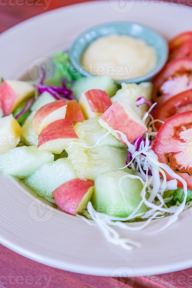 Fruits and vegetables salad photo