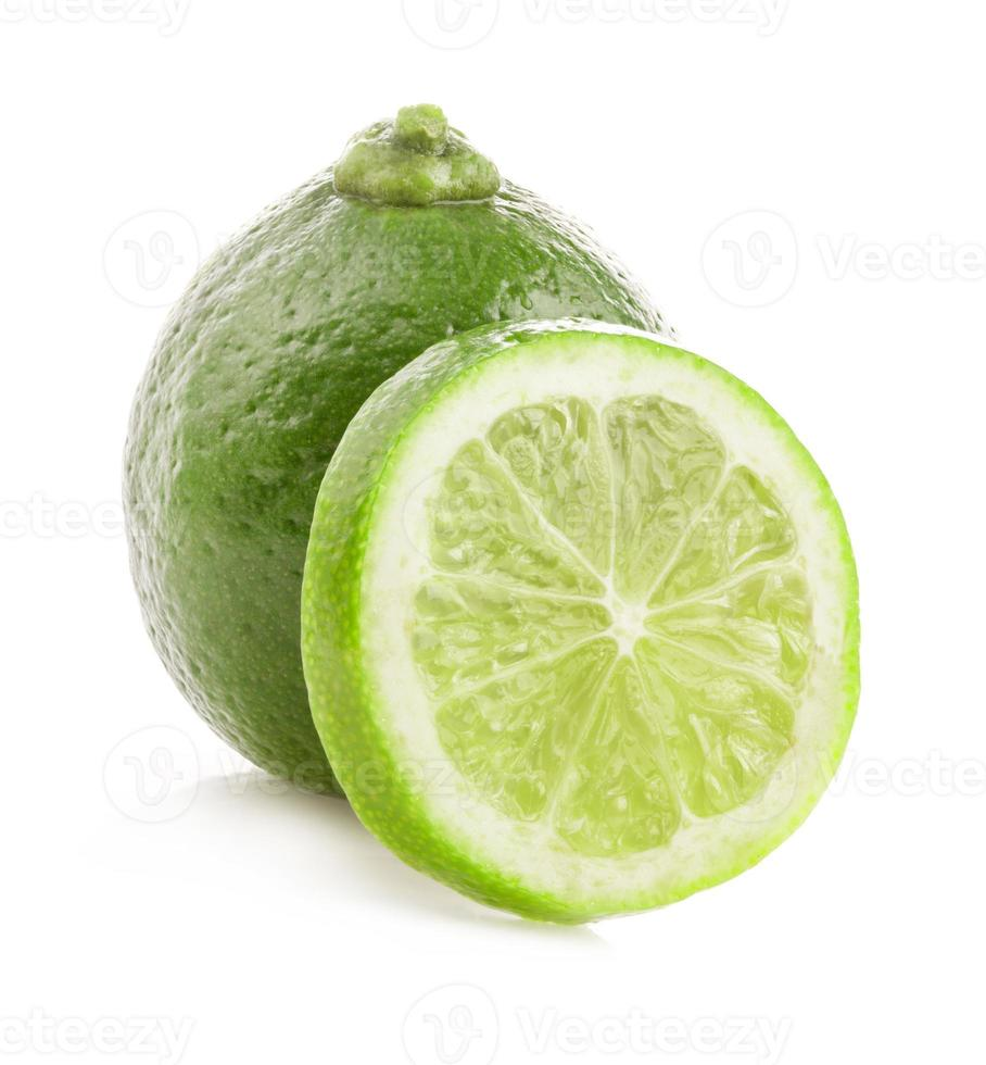 Fresh lime and slice photo