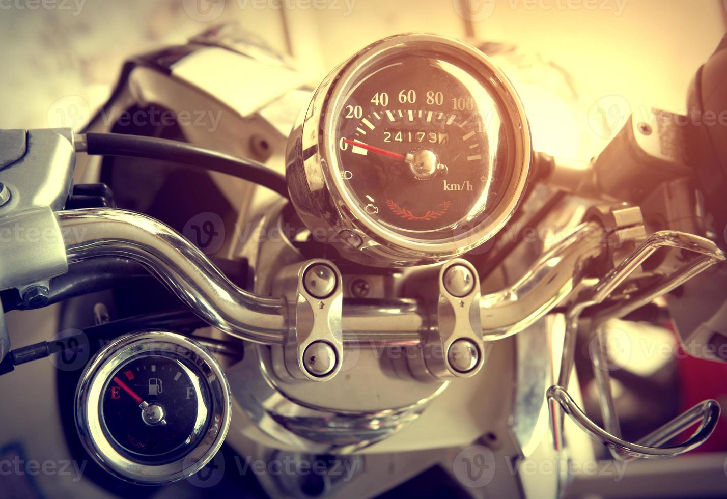 motocicleta clásica vintage foto