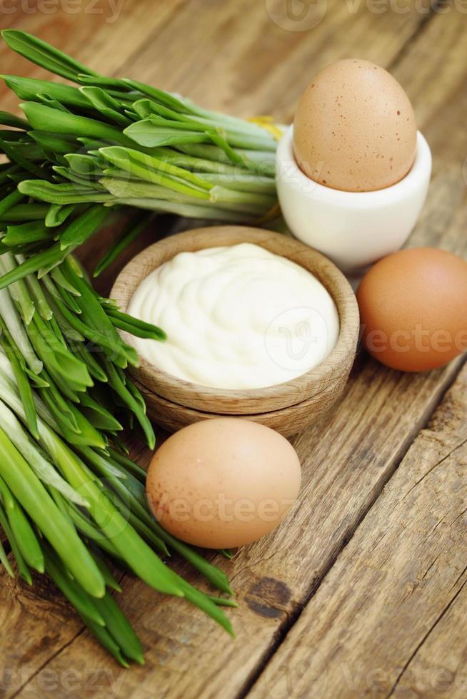 mayonnaise and ramson photo
