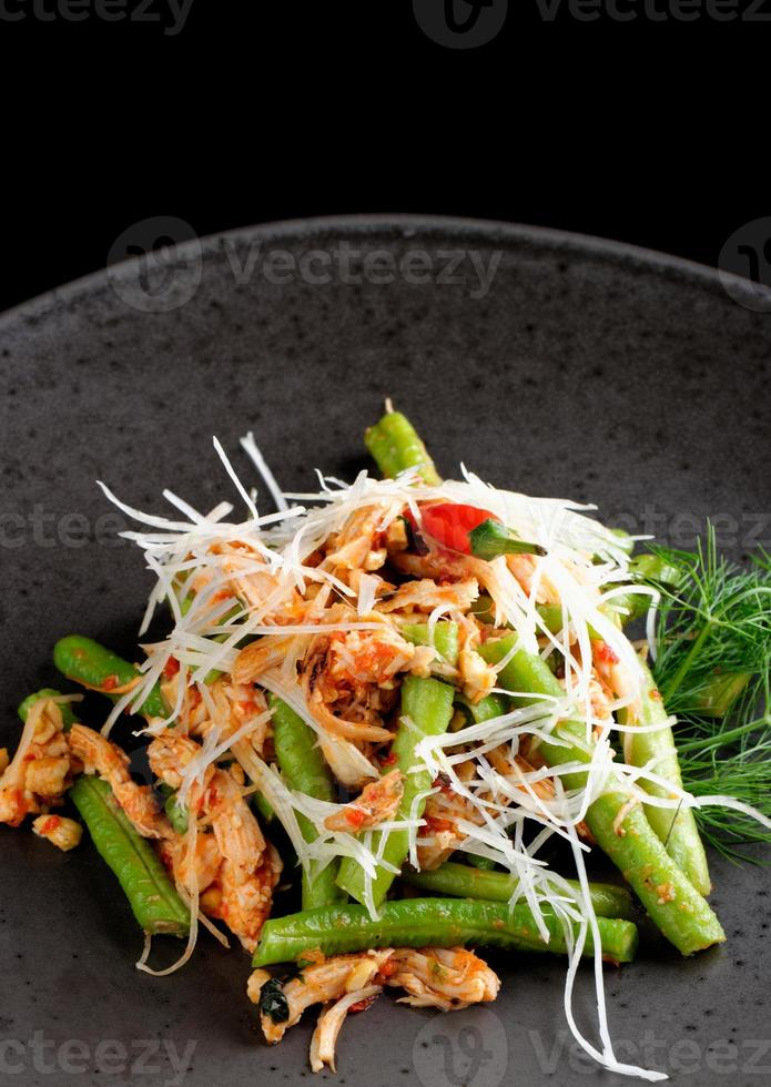 Bali style chicken with lemongrass and long beans photo