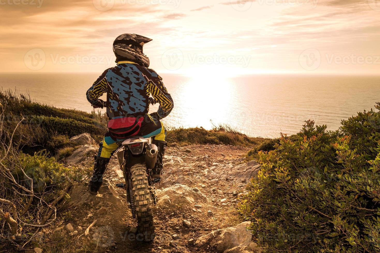 Enduro bike rider photo