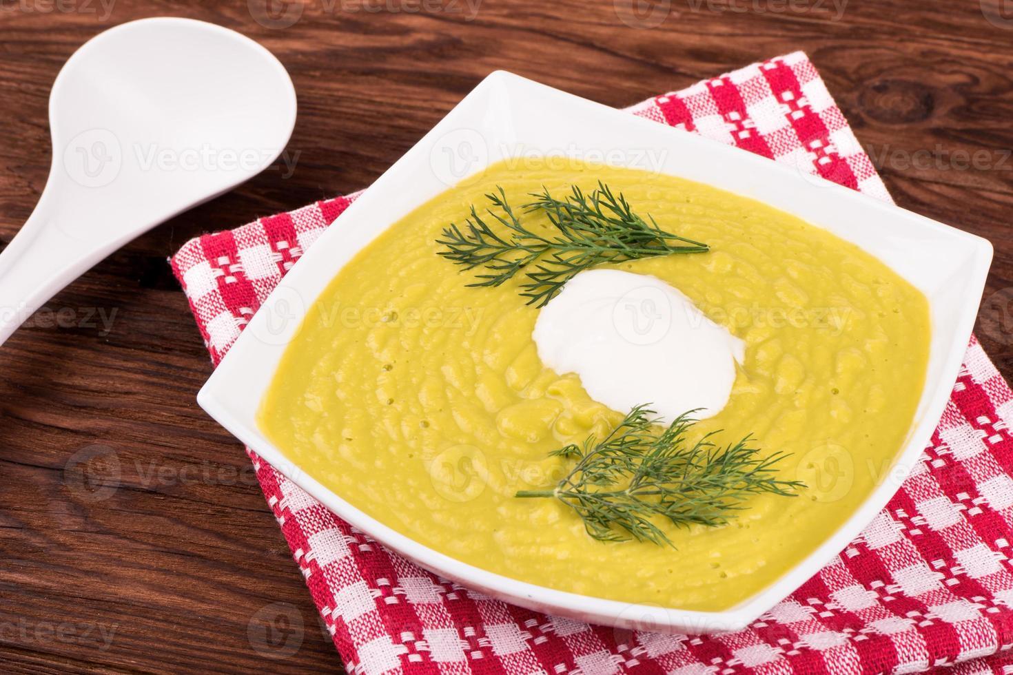 Vegetable cream soup photo