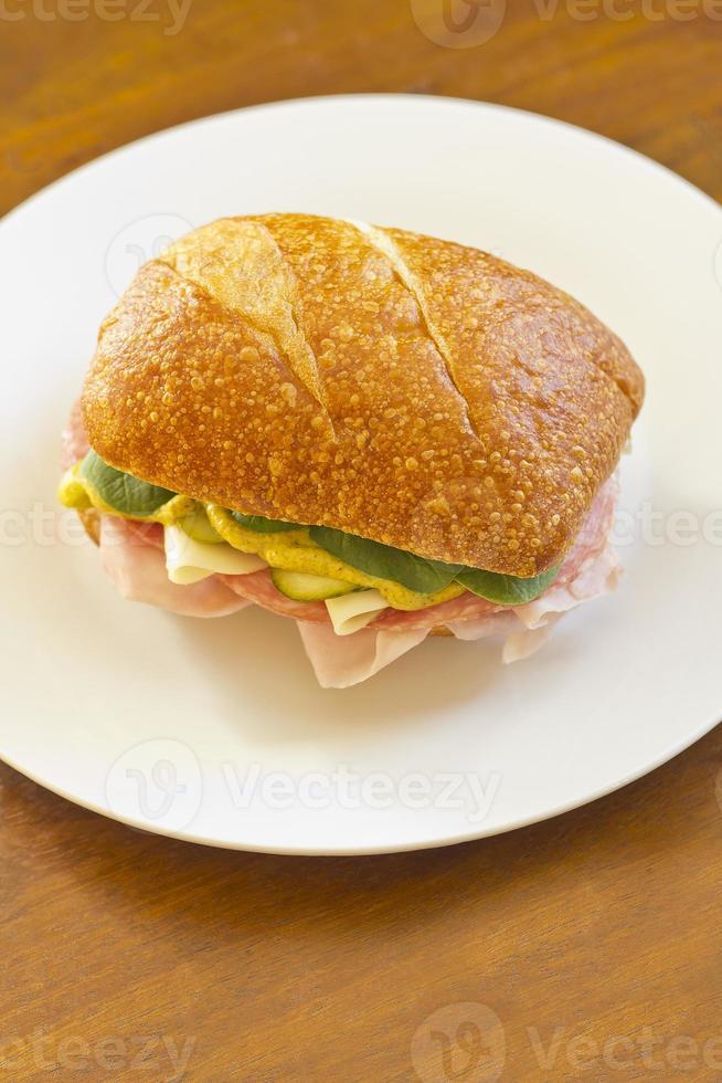 Ciabatta Roll Sandwich photo