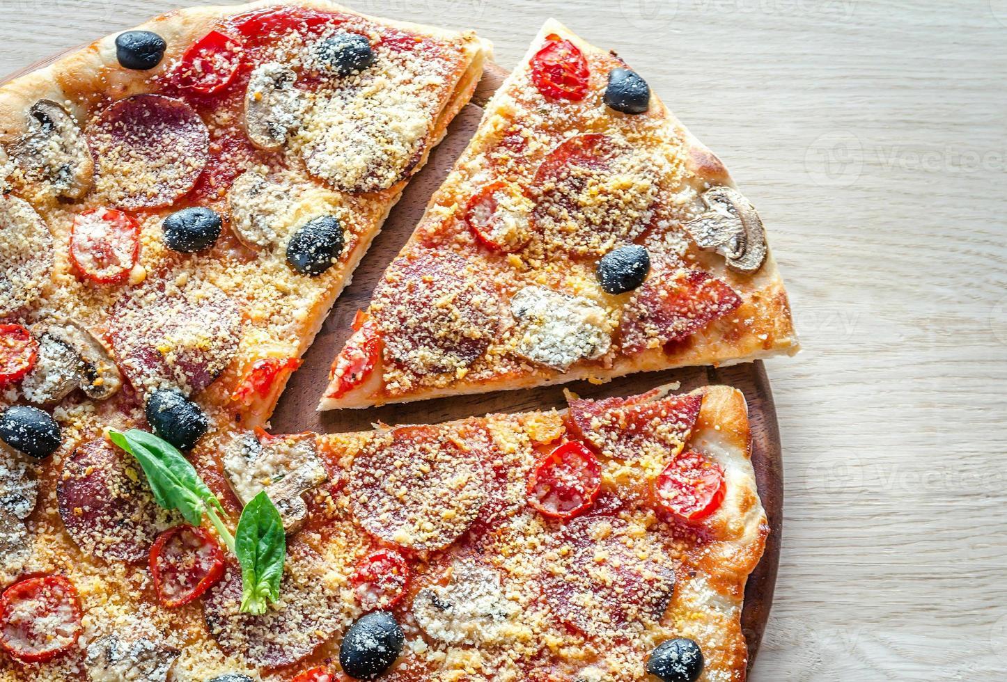pizza casera de regina foto