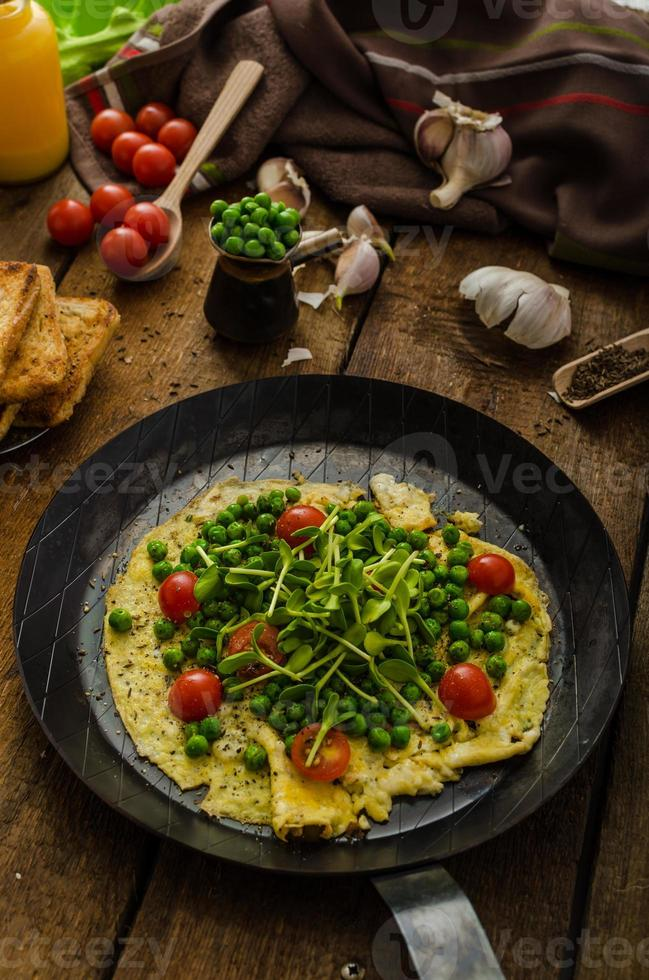 Healthy omelet with vegetables photo