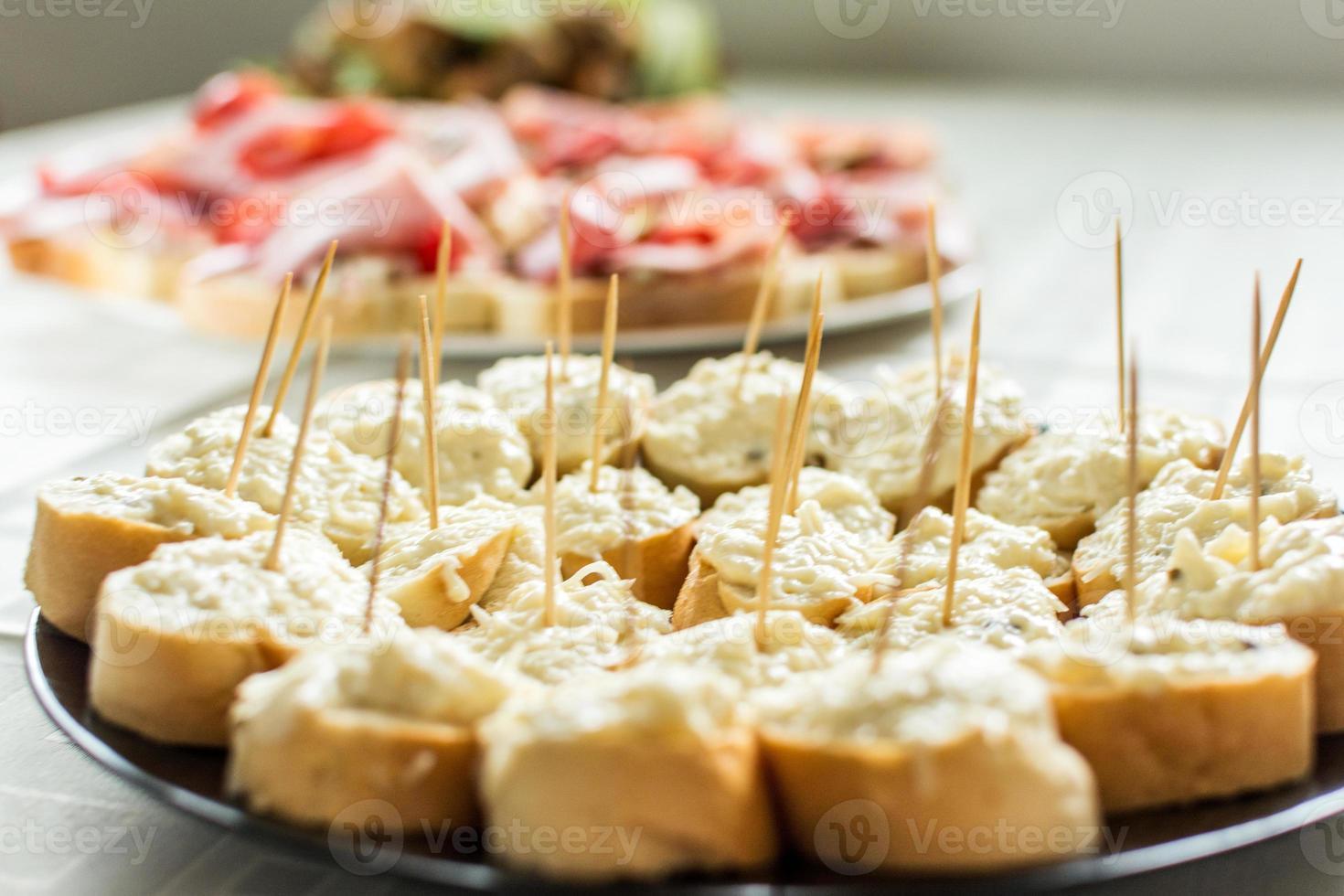 Garlic canapes photo