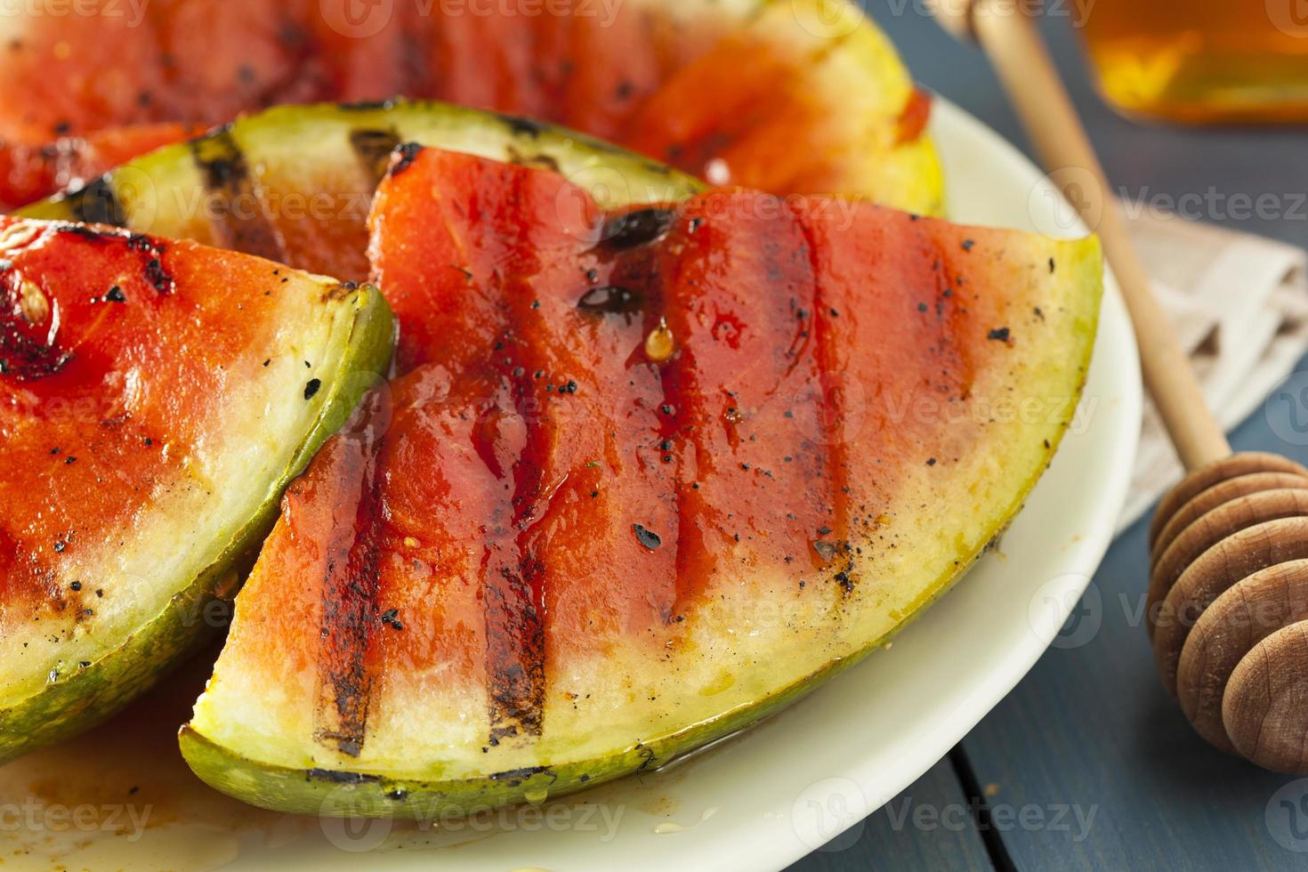Ripe Healthy Organic Grilled Watermelon photo
