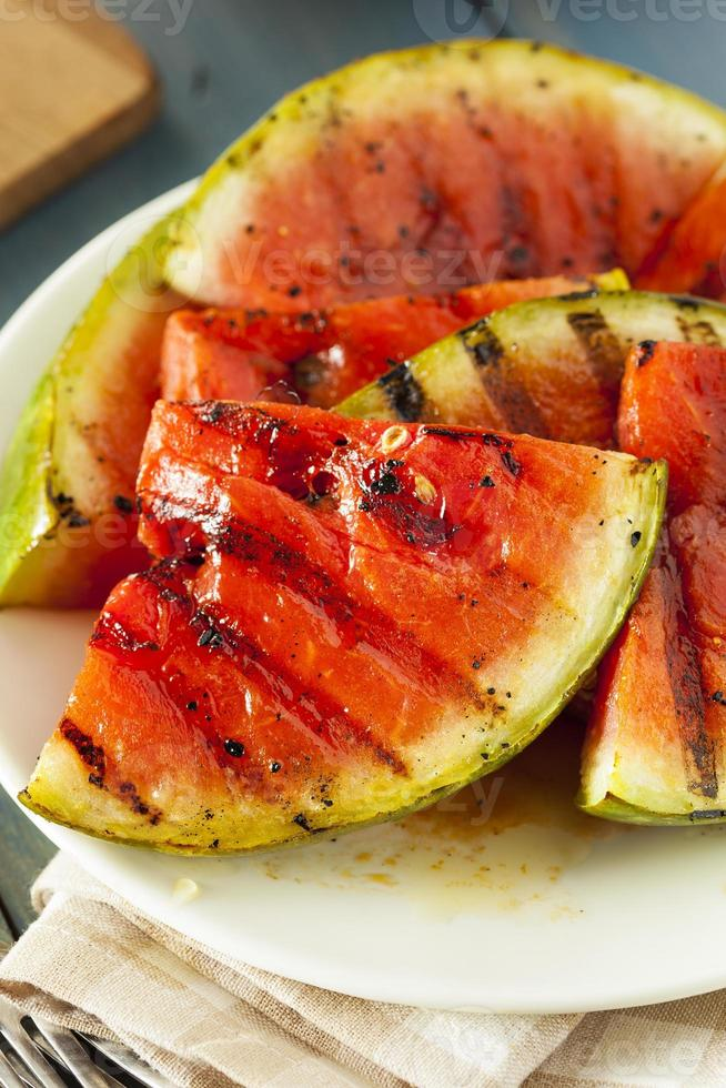 Ripe Healthy Organic Grilled Watermelon photo