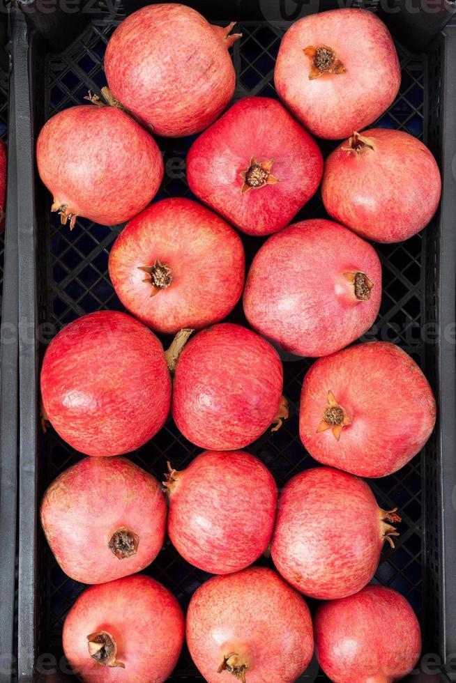 pomegranates in a box photo