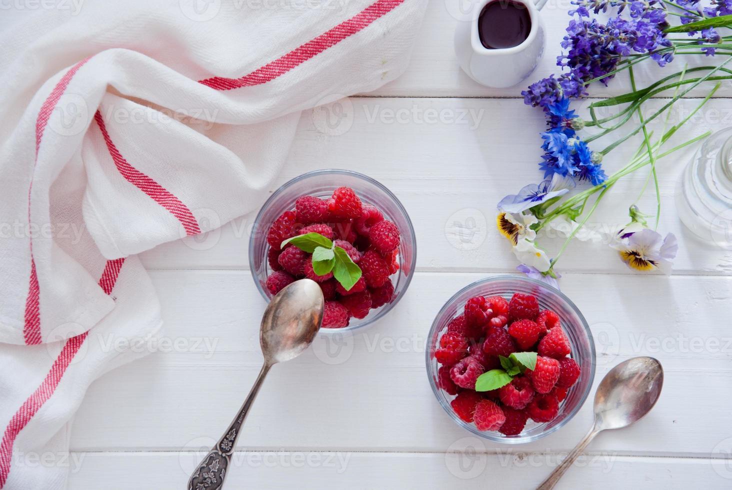 Fresh Organic Raspberries photo