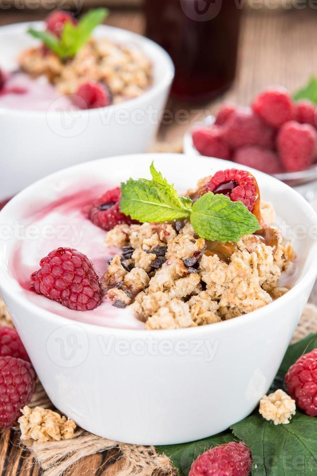 Homemade Raspberry Yogurt photo