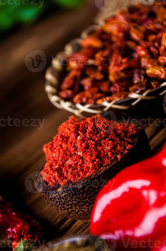 Oriental theme with seasoning photo